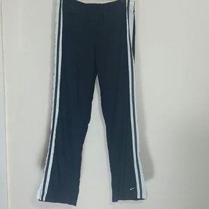 Nike track pants Dri-Fit wallet pocket black white